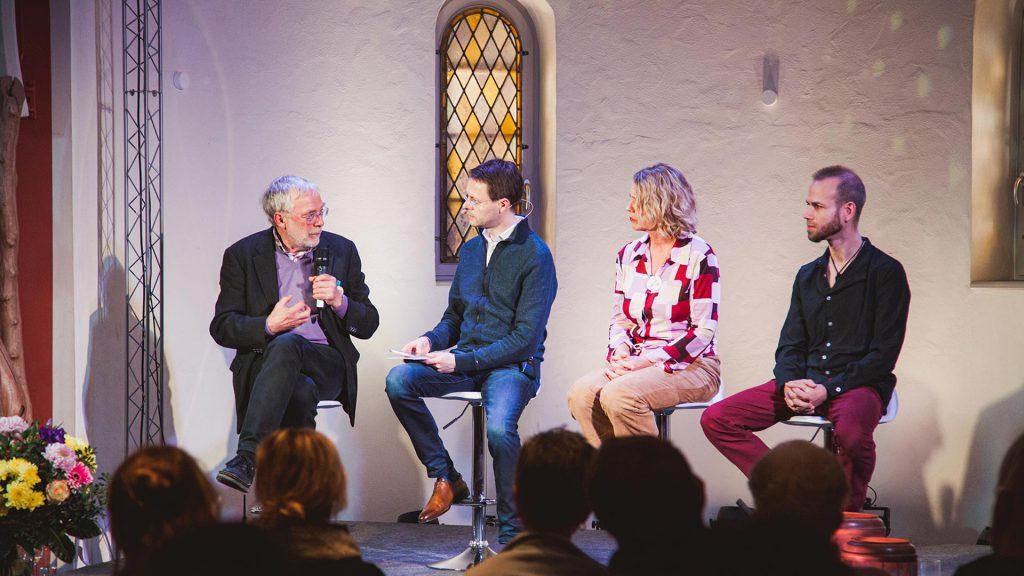 Podiumsgespräch in der Holzkirche Chemnitz